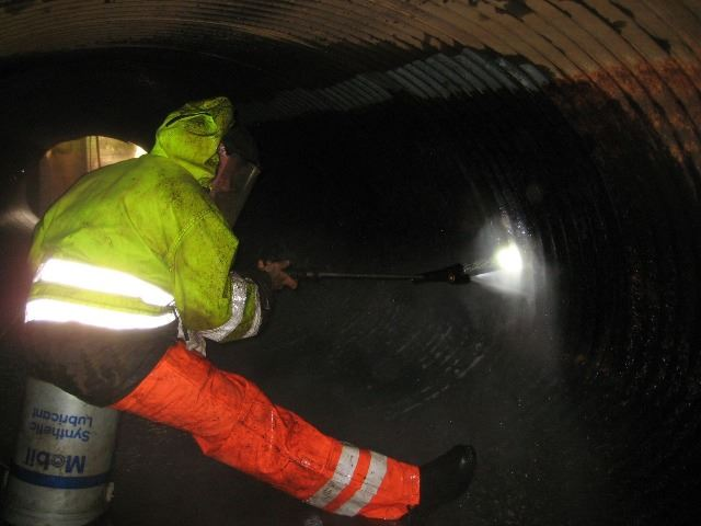 Preparing Culvert for Epoxy Liner